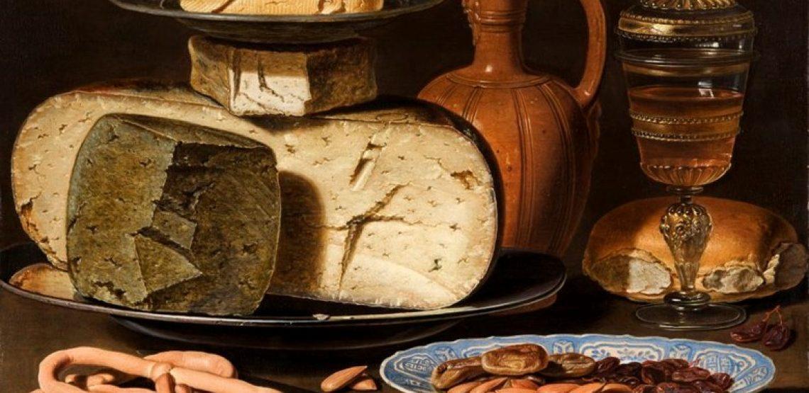 Le due chiavi. Natura-morta-con-formaggi-mandorle-e-pretzel-di-Clara-Peeters-1140x555