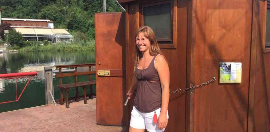 Traghetto leonardesco: lo guida Ingrid Anghileri