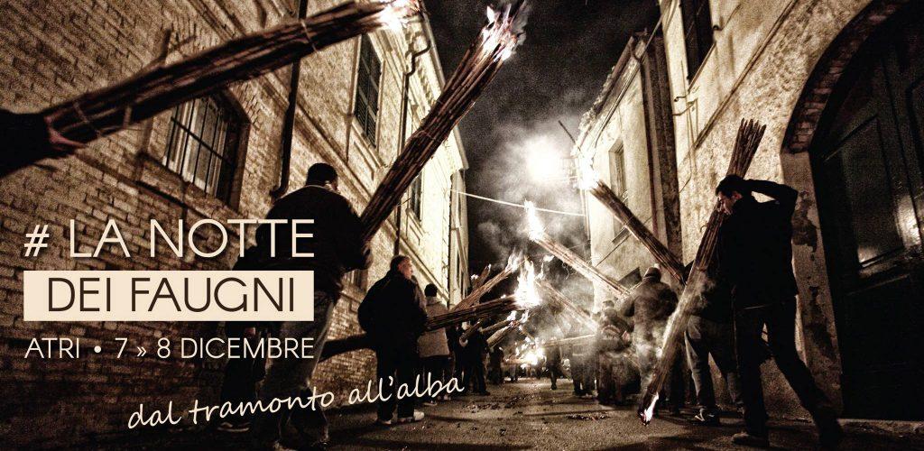 Per il week end dell'Immacolata la Notte dei Faugni a Atri, in provincia di Teramo
