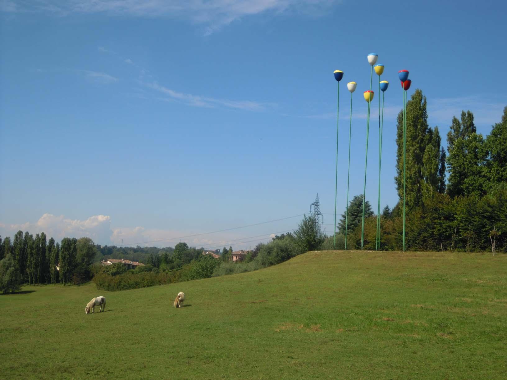 Rossini Art Site, un parco d'arte. Tulipani: Rossini Art Site