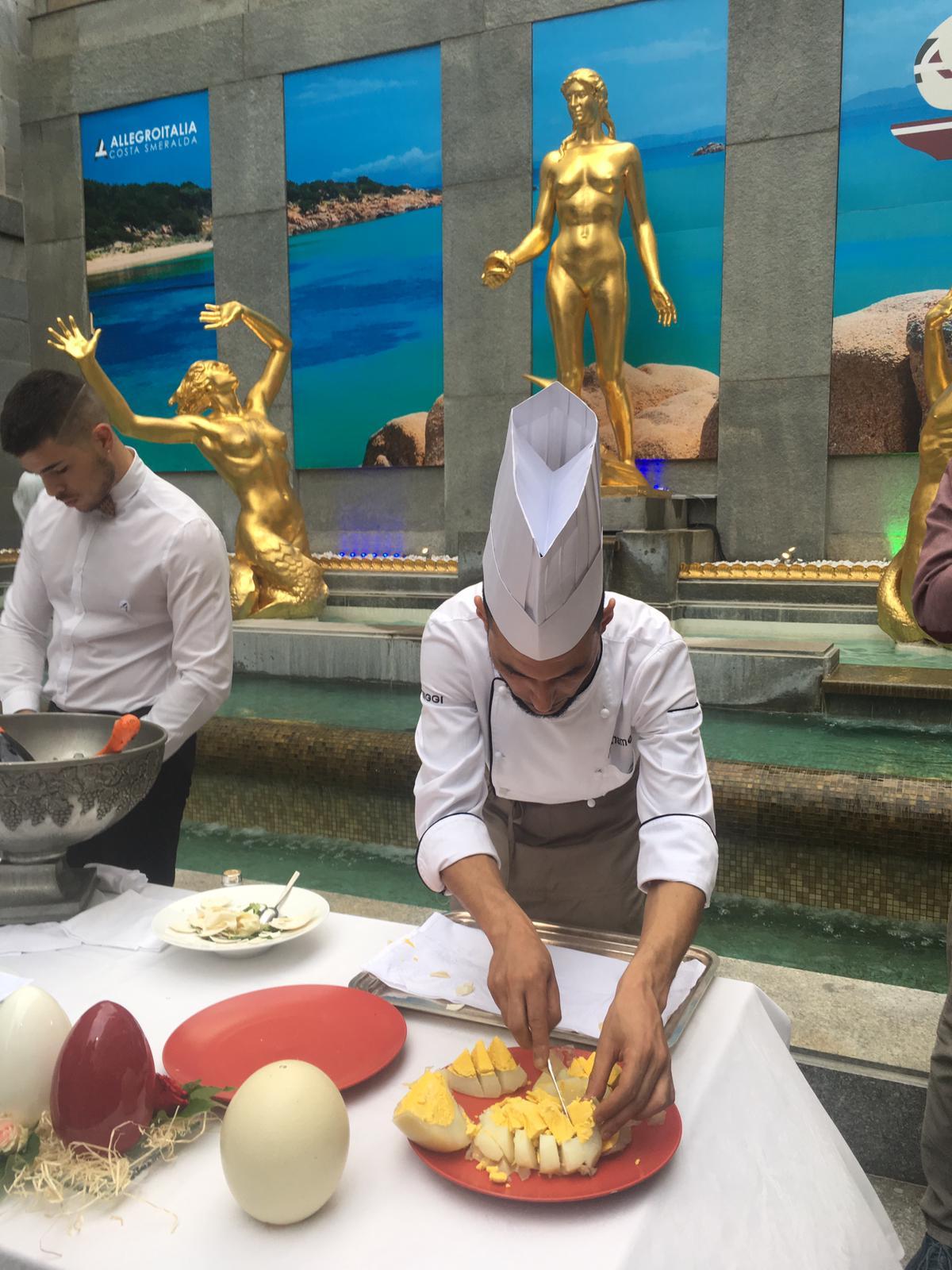 la cucina dell'hotel Allegroitalia Golden Palace