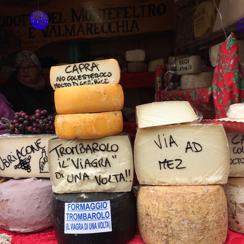 mercatini di Natale, San marino: formaggi