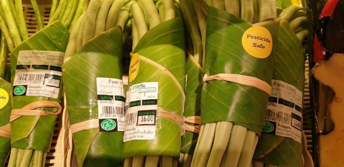 Le foglie di banano al posto della plastica