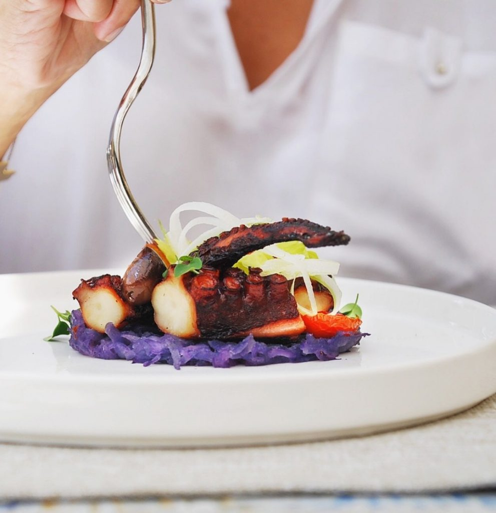 ristorante particolare: polpo in 3 cotture