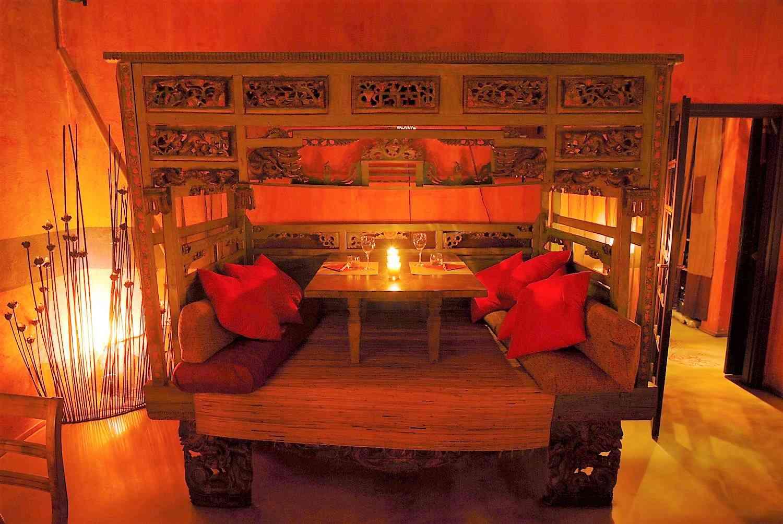 a cena da Shambala, ristorante fusion