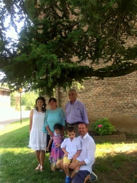 la famiglia che guida l'azienda agricola Landini